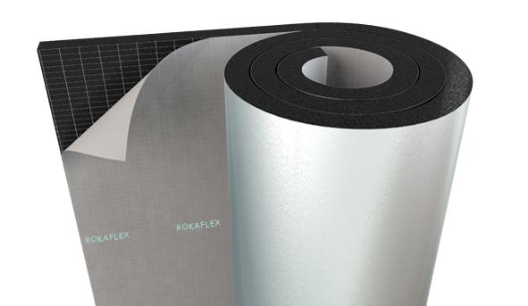 Aluminium Foil Faced Self-Adhesive Elastomeric Rubber Foam Insulation Rolls