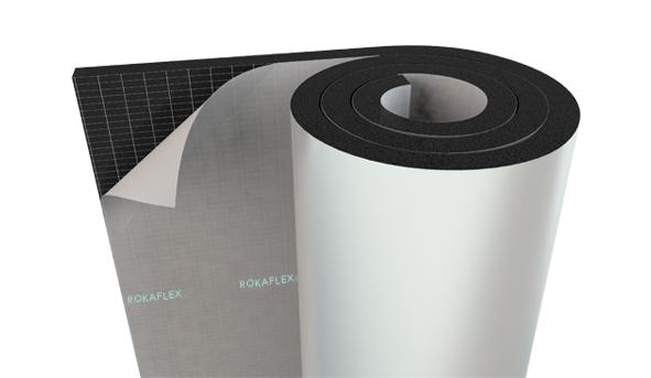 PVC - Aluminium Foil Faced Self-Adhesive Elastomeric Rubber Foam Insulation Rolls