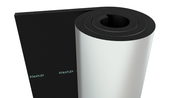 PVC - Aluminium Foil Faced Elastomeric Rubber Foam Insulation Rolls